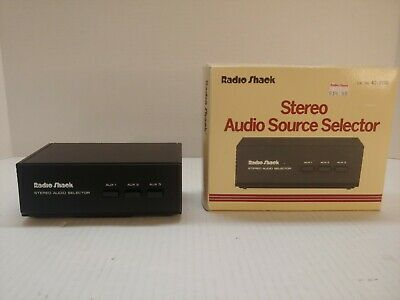 Realistic Stereo Audio Selector 3 Way RCA Component Switch Radio Shack 42-2110