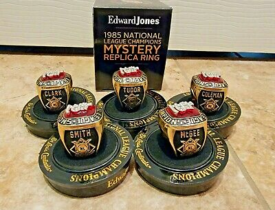 St Louis Cardinals 85 NLCS Mystery Replica Ring Ozzie McGee Coleman SGA 8-21-21
