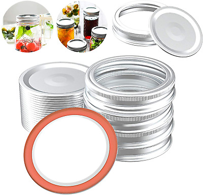 40Pcs Canning Lids and Rings for Regular Mouth Split-Type - Leak Proof 70MM