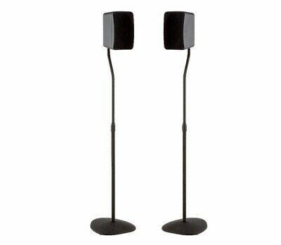 SANUS Pair of Adjustable Height Home Theater Surround Speaker Stands