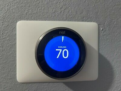 Nest 3rd Generation Programmable Thermostat Model A0013 - Stainless Steel