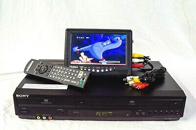 Sony SLV-D380P DVD - VCR VHS Combo Player With Remote - Cables - TESTED Clean