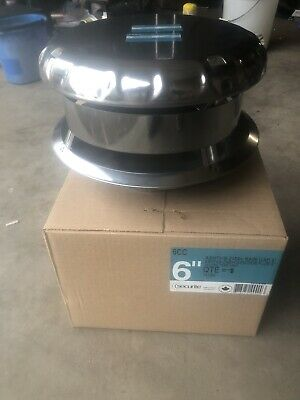 Securite 6CC Round Stainless Triple Wall 6 Inch Vent Pipe Rain Cap