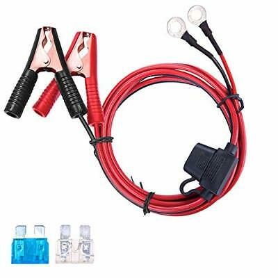 DEDC 13-1FT4M 16AWG Extension Cord Eyelet Terminal with Battery Clamp 12V 2-