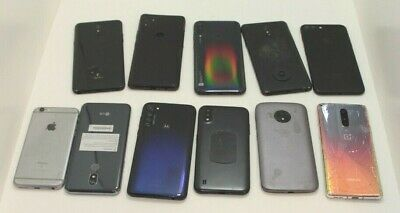 Lot of 11 Mixed Smart Cell Phones Untested Burner Drop Trac Prepaid Clone Bugout