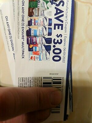 Ensure coupons 3-00 off x40 Exp 060122- 75 value