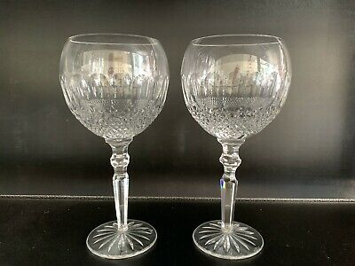 2 PERFECT BRILLIANT WATERFORD COLLEEN ENCORE WATER GOBLETS   8 34 X 3 12