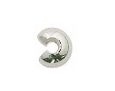 20 Silver Plated Crimp Knot Bead Covers 4MM