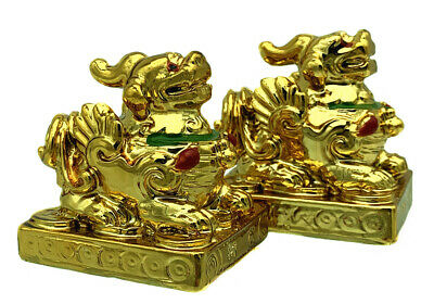 Two Feng Shui Pi Yao /Pi Xiu Statue Figurine Decoration for wealth a Protection