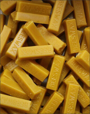 1 - 1 Oz Bars Of Real 100 Pure Beeswax Filtered Blocks Never Cut