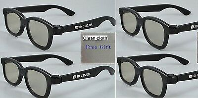 New Four Paris Cinema 3D Glass for LG Cinema 3D TV with one free clean cloth