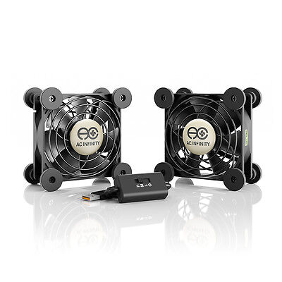 MULTIFAN S5 Quiet Dual 80mm USB Cooling Fan for Receiver DVR Computer Cabinets