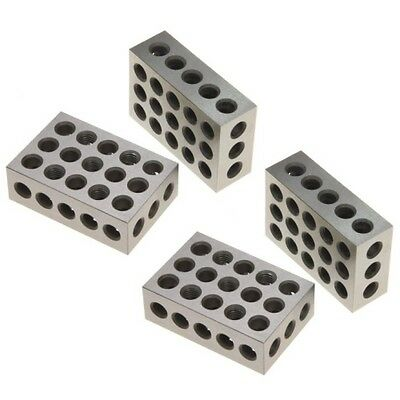 2 Pair 4 1-2-3 Block Set 0-0001 Precision Matched Mill Machinist 123 23 Holes