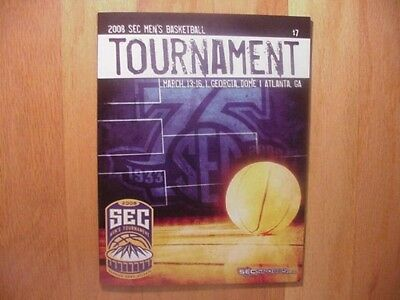 Georgia Bulldogs Win SEC Tournament Program-2008