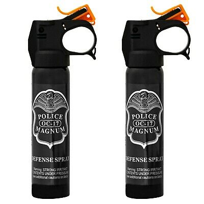 2 Police Magnum Anti-Riot bear pepper spray 5oz Fire Master Fogger Self Defense