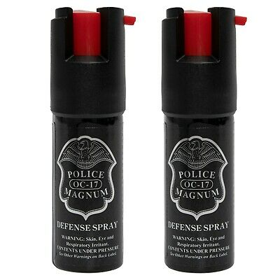 2 Police Magnum pepper spray -50oz unit safety lock personal defense protection