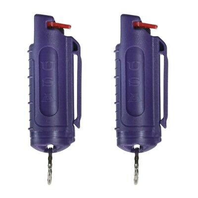 2 Police Magnum pepper spray -50oz purple molded keychain defense protection