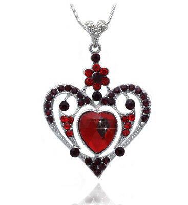 Red Heart Pendant Necklace Mothers Day Birthday Gift For Mom Wife n2070r