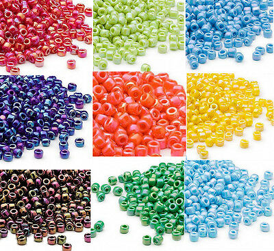 200 Matsuno 60 Glass Seed Beads Rainbow Colors Shiny Or Frosted Spacer Beads