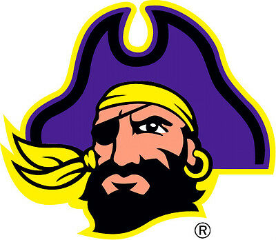 East Carolina Pirates NCAA Color Die-Cut Decal  Car Sticker Free Shipping