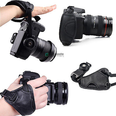 Cameras Leather Hand Grip Wrist Strap for Canon Nikon Sony Pentax Olympus DSLR