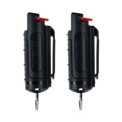 2 Police Magnum pepper spray -50oz black molded keychain self defense protection