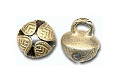 100 solid BRASS JINGLE BELLS 19mm 34  Heavy - Well designed - a Great RING