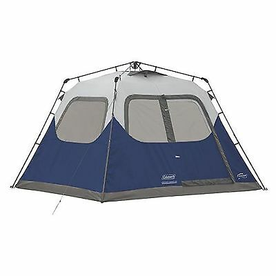 Coleman 6-Person 10 x 9 Instant Cabin Family Camping Tent w Built-In Rainfly