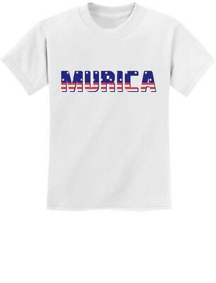 Murica Fourth of July USA American Flag Youth Kids T-Shirt Gift Idea