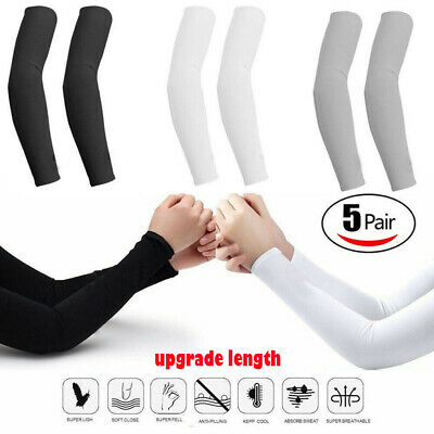 5 pairs Cooling Arm Sleeves Cover UV Sun Protection Basketball Sport 10 pieces