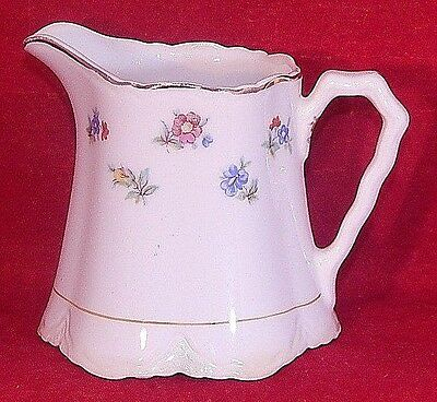 Vintage W- S- George Radisson Shape Creamer 1628 Gold Trim Delicate Flowers