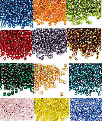 200 Matsuno 60 Glass Seed Beads Silver Lined Spacer Beads Nice Quality