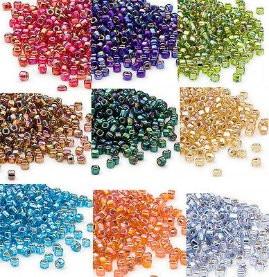 200 Rainbow Silver Lined Matsuno 60 Glass Seed Beads Spacer Beads