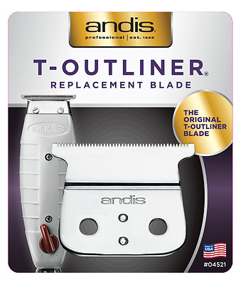 Andis T-Outliner Trimmer Replacemnt Blade Set 04521 NEW Authorized Distrib 4710
