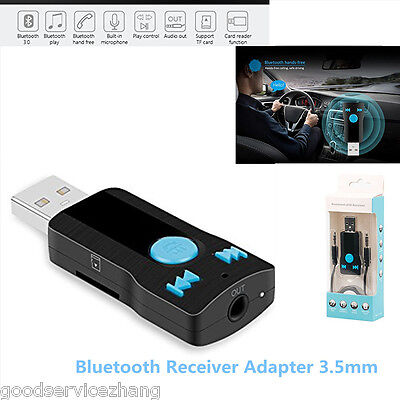 3-5mm USB Bluetooth Receiver Adapter For Stereo Audio Receiver-Adapter Speakers