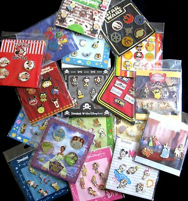 Disney TRADING PINS 25 Pin Lot - Brand New Booster Sets