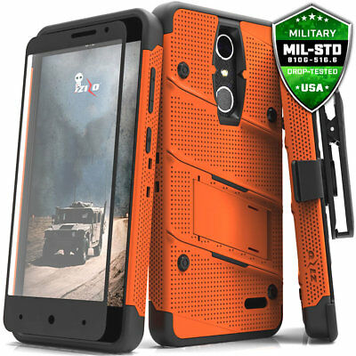 ZTE Grand X4 Case Cover Tempered Glass Kickstand Holster Armor FLAGSHIP ZTE X 4
