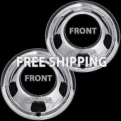 2 Front for DODGE RAM 3500 03-19 Chrome 17 Dual Wheel Simulators Dually Covers