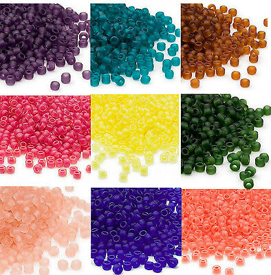200 Matsuno 60 Glass Seed Beads Frosted Translucent - Inside Color Seed Beads