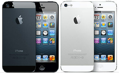 APPLE iPHONE 5 16GB  32GB  64GB - Unlocked - Black  White - Smartphone Mobile