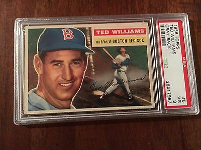 1956 Topps Baseball Ted Williams 5 PSA 3 - Gray Back