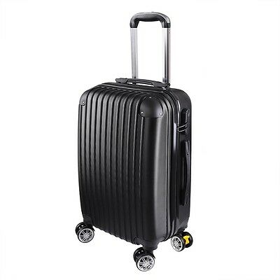 Black 20 Luggage Travel Bag Trolley Suitcase ABS - PC Wheels Rolling wCode