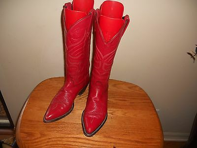 WOMENS TONY LAMA RED LEATHER 1109 WESTERN COWBOY BOOTS SIZE 6M