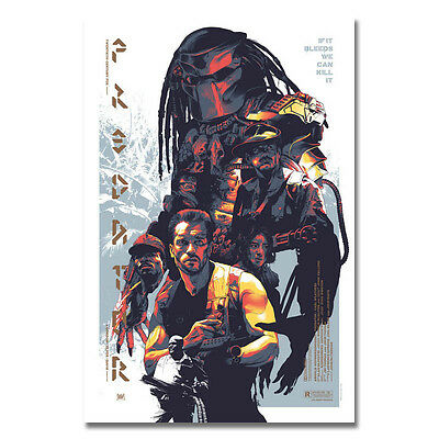 Predator Art Movie Silk Poster 13x20 24x36 Home Wall Decor Arnold Schwarzenegger