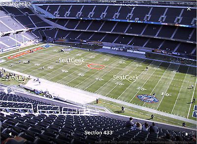 2 TICKETS GREEN BAY PACKERS AT CHICAGO BEARS 11122017