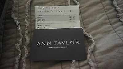 193-80 Ann Taylor Merchandise Credit Gift Card Unscratched Pin Loft Lou Grey
