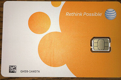AT-T  Nano SIM Card 4G LTE 4FF - 4488A - GSM GoPhone Prepaid or Contract - NEW