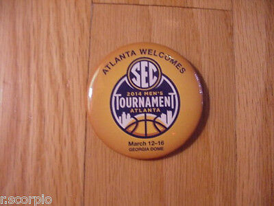 2014 SEC Mens Basketball Tournament Pinback Button-Florida GatorsKentucky-Mint