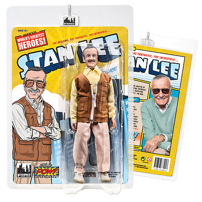 Official  Stan Lee Retro 8 inch Action Figure Brown Vest Version by FTC