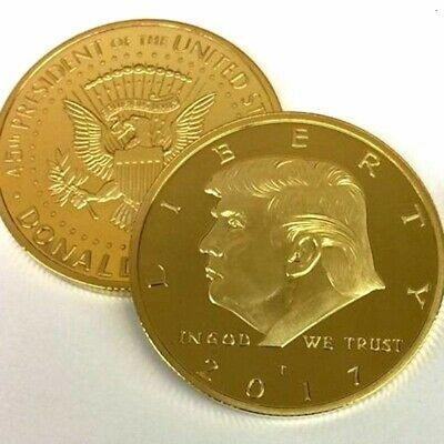 Rare Donald Trump Republican US Gold Eagle Collection Gift Large Coin W Capsule